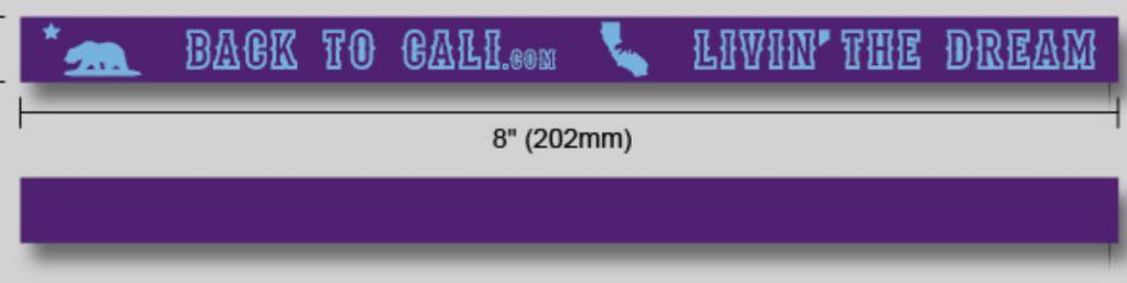 Back To Cali Wristband