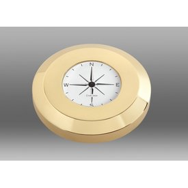 CHELSEA CLOCK CO. CHELSEA Compass Chart Weight, Brass Finish