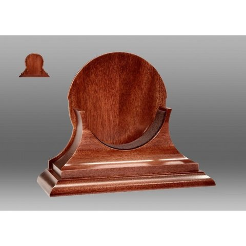 "CHELSEA 6"" TRADITIONAL MAHOGANY BASE"