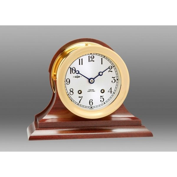 "CHELSEA CLOCK CO. CHELSEA 4.5"" Ship's Bell w/Hinge Bezel on Traditional Base"