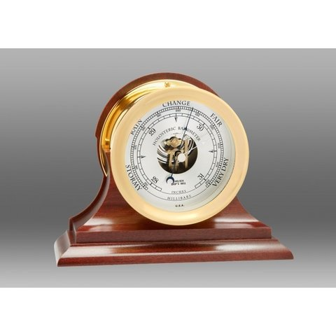 "CHELSEA 4.5"" Ship's Bell Barometer on Traditional Base"