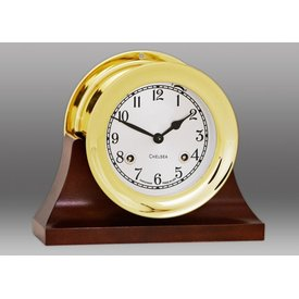 "CHELSEA CLOCK CO. CHELSEA 4.5"" Shipstrike w/Hinge Bezel on Contemporary Base"