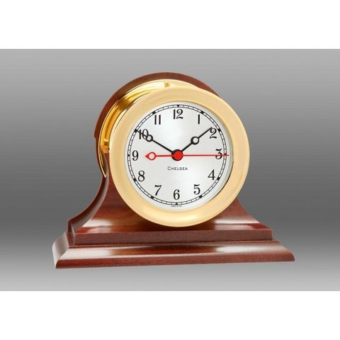 "CHELSEA 4.5"" Shipstrike Quartz Clock on Traditional Base"