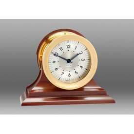 "CHELSEA Polaris 4.5"" 12/24 Hour Clock, Traditional Bezel on Traditional Base"