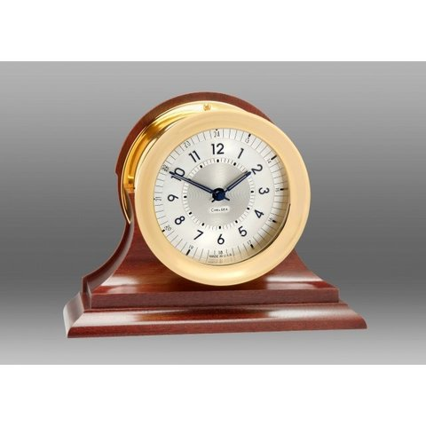 """CHELSEA Polaris 4.5"""" 12/24 Hour Clock, Traditional Bezel on Traditional Base"""