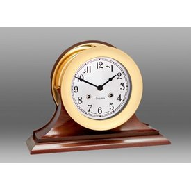 "CHELSEA CLOCK CO. CHELSEA 6"" Shipstrike w/Hinge Bezel on Traditional Base"