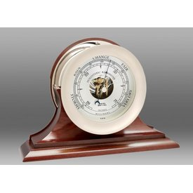 "CHELSEA CLOCK CO. CHELSEA 6"" Ship's Bell Barometer Nickel on Traditional Base"