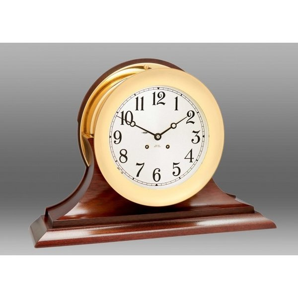 """CHELSEA CLOCK CO. CHELSEA 8.5"""" Ship's Bell Clock on Traditional Base"""