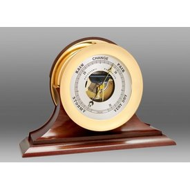 "CHELSEA CLOCK CO. CHELSEA 8.5"" Ship's Bell Barometer on Traditional Base"
