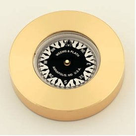 WEEMS & PLATH WEEMS & PLATH BRASS CHARTWEIGHT COMPASS