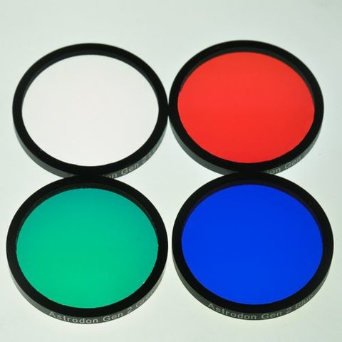 Astrodon E-Series LRGB Filter set mounted 1.25 Inch