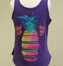 Coastal Classics Girls Sliced Pineapple Flowy Tank