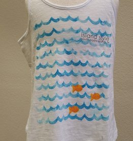 Coastal Classics Girls Gold Fish Curvey FLowy Tank