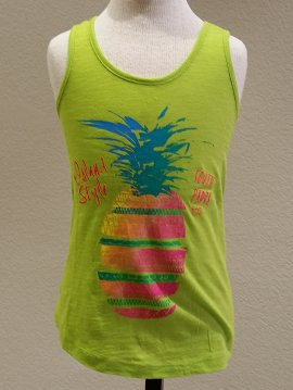 Coastal Classics Coastal Classics Girls Sliced Pineapple Flowy Tank