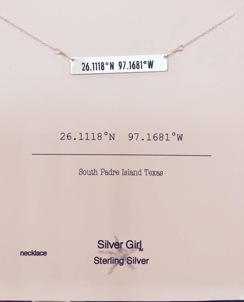 SILVER GIRL 1.5 BAR NECKLACE