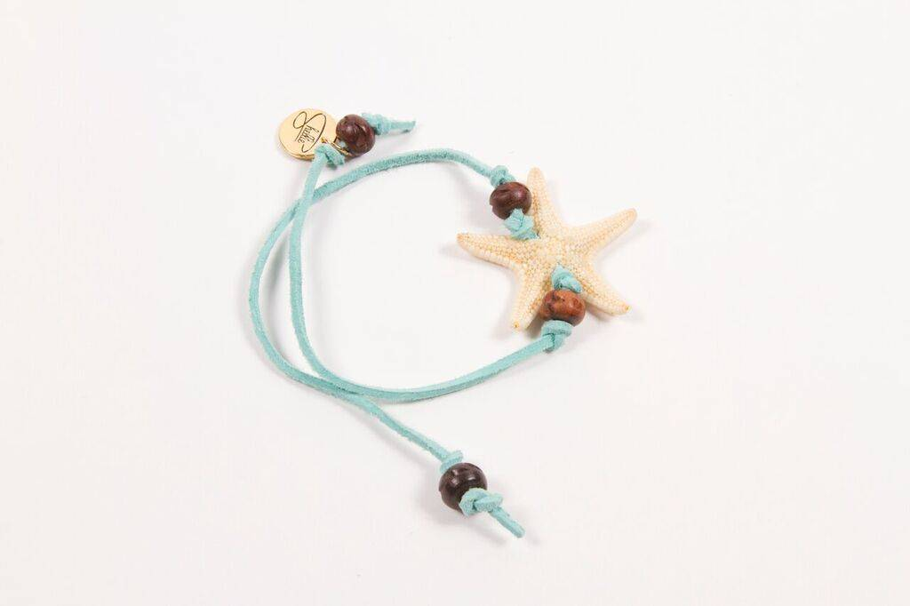 Shellie SHELLIE KNOBBY LEATHER BRACELET