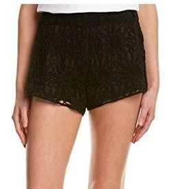 The Crochet Short-Black