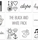 Inked by Dani Black and White Pack