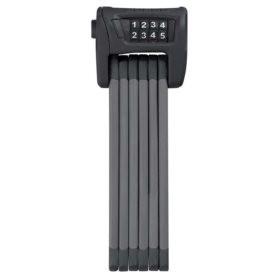 Abus Bordo 6100, Cadenas pliable avec serrure a combinaison, 90cm (3'), Fixation, Noir