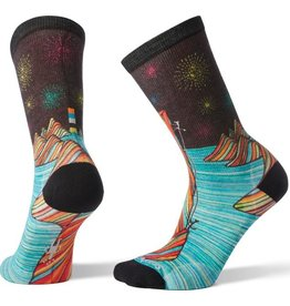 Smartwool W's Curated Rainbow Mountain Climb Crew BLACK M