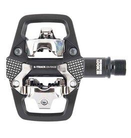 Look X-Track En-Rage, Pedales automatiques pour VTT, Corps en Aluminum, Essieu en Cr-Mo, 9/16'', Noir