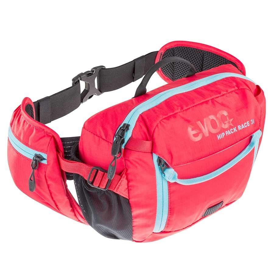 EVOC EVOC, Hip Pack Race, Sac d'hydratation, Volume: 3L, Reservoir: Inclus (1.5L), Rouge/Bleu neon