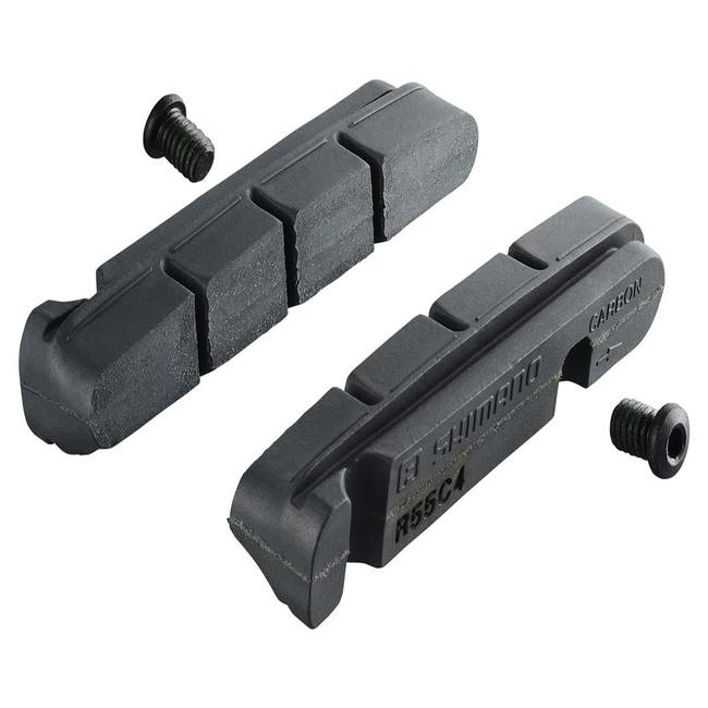 Shimano BR-9000 R55C4 CARTRIDGE-TYPE BRAKE SHOES & FIXING BOLTS FOR CARBON RIM (2 PAIR)