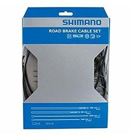 Shimano Kit câbles et gaines de freins, Inox enduit de PTFE, Route, Noir