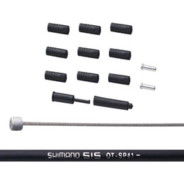 Shimano Kit câbles et gaines de vitesse, Inox, MTB, Noir
