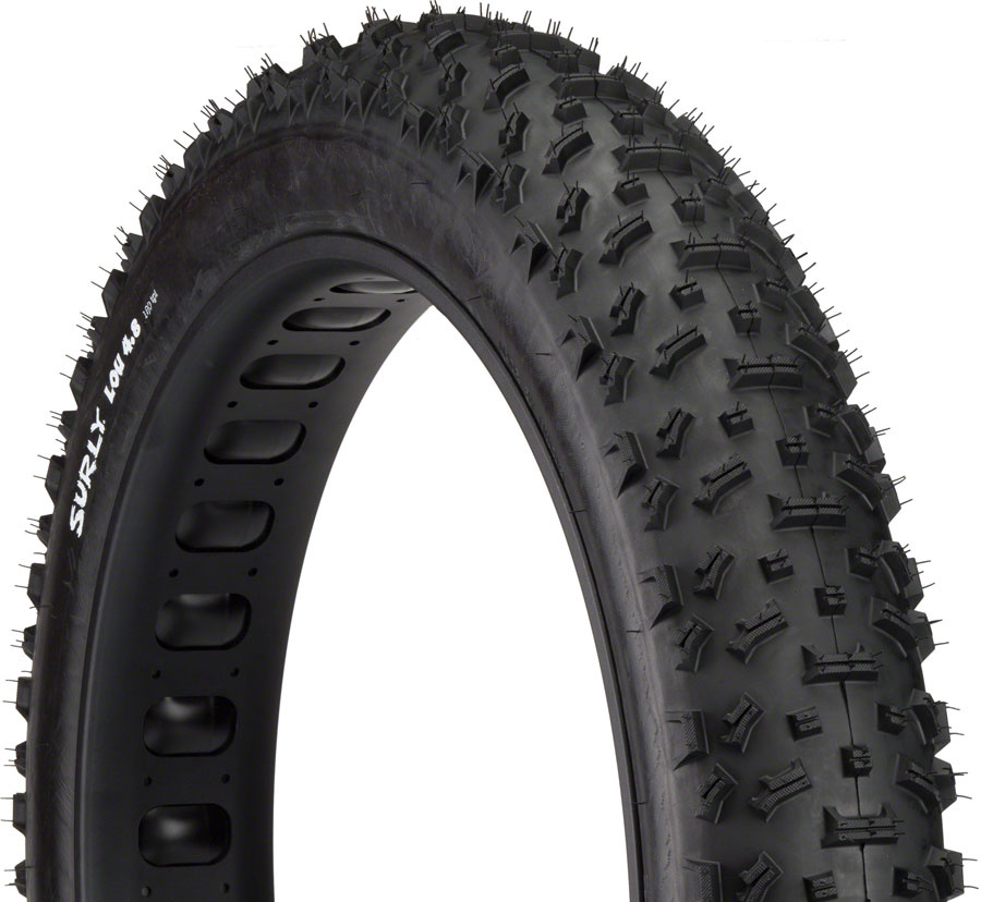 Surly Surly Lou Tire - 26 x 4.8, Clincher, Folding, Black, 120tpi