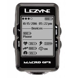 Lezyne Lezyne, Macro GPS, Cyclometre, GPS: Oui, Cardio: En option, Cadence: Optionnelle, Noir