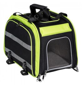 Nantucket, Pet, Pannier arriere extensible pour animal, Vert/Noir, 16.75''x10.5''x11.5'', Extensible a 30