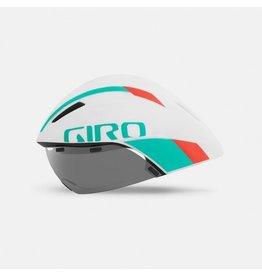 Giro AeroHead MIPS Blanc/Turquoise/Rouge Medium