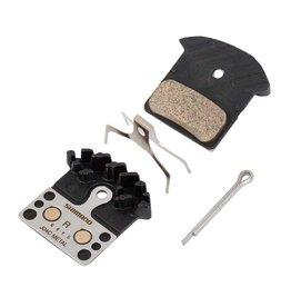 Shimano BR-M9000, J04C, Patins de freins a disque, En metal Avec ailettes, Paire, J type, Y8LW98030