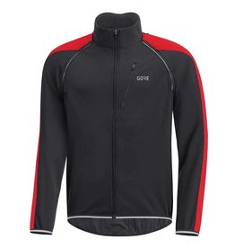 Gore Bike Wear C3 GWS Phantom, Manteau a manches amovibles, Noir/Rouge
