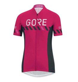 Gore Bike Wear C3 Wmn, Maillot a manches courtes, Rose Jazzy/Noir