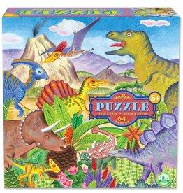 eeBoo Dino Island 64 Piece Puzzle