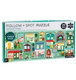 Follow & Spot Puzzle: Around Town