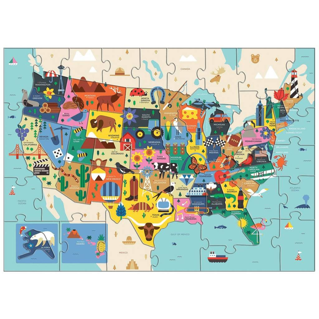USA Map 70 Piece Puzzle