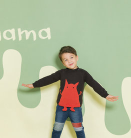 Aimama Little Monster Sweater Black
