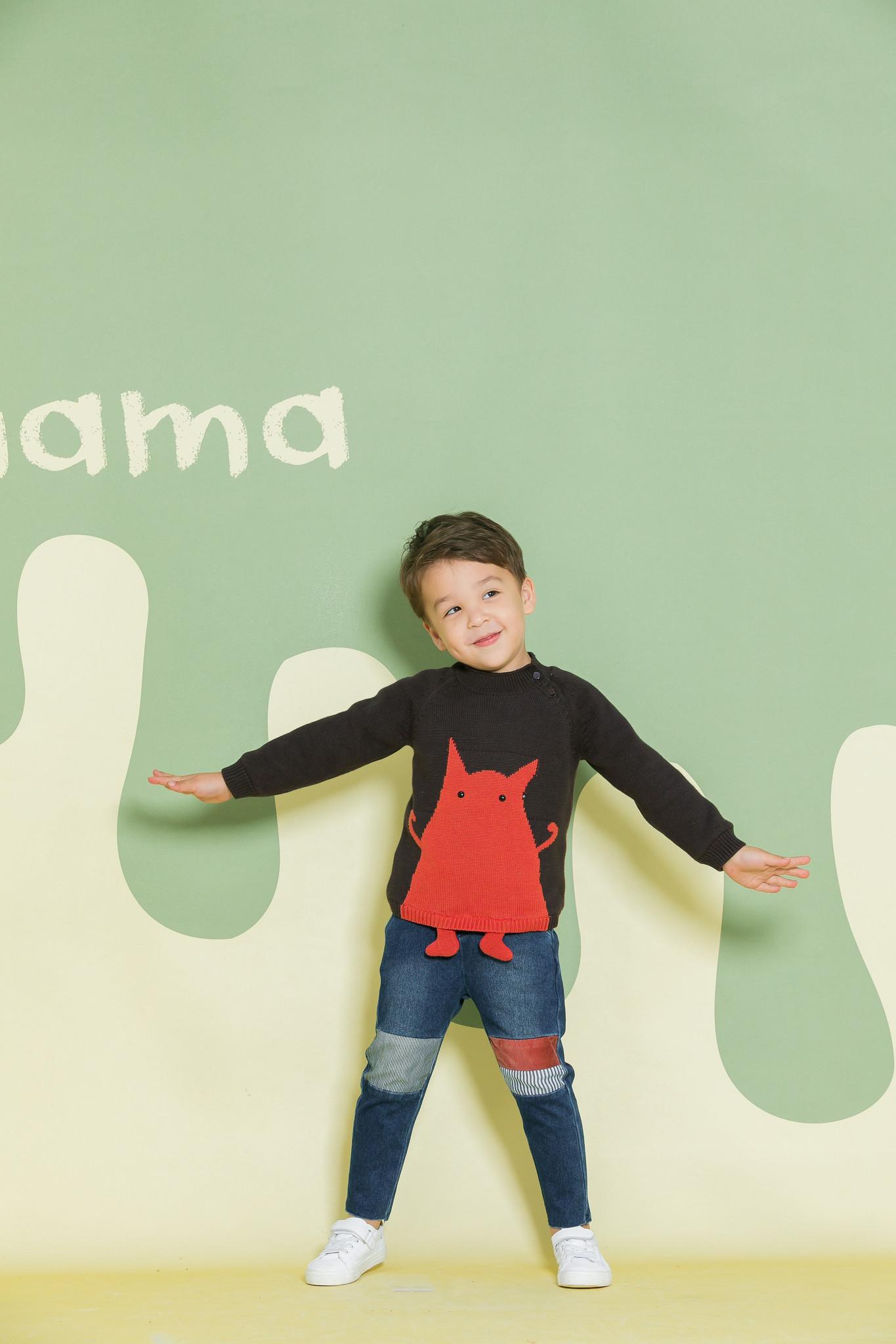 Aimama Little Monster Sweater Black
