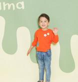 Aimama Aimama Orange Embroidery Sweatshirt