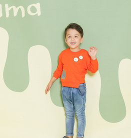 Aimama Aimama Orange Embroidery Sweatshirt