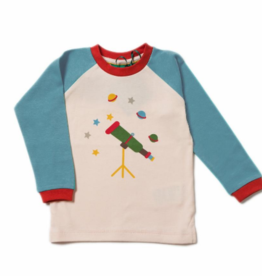 Little Green Radicals Little Green Radicals Star Gazer Blue Raglan Top
