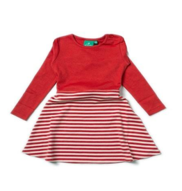 Little Green Radicals Little Green Radicals Red Little Twirler Dress