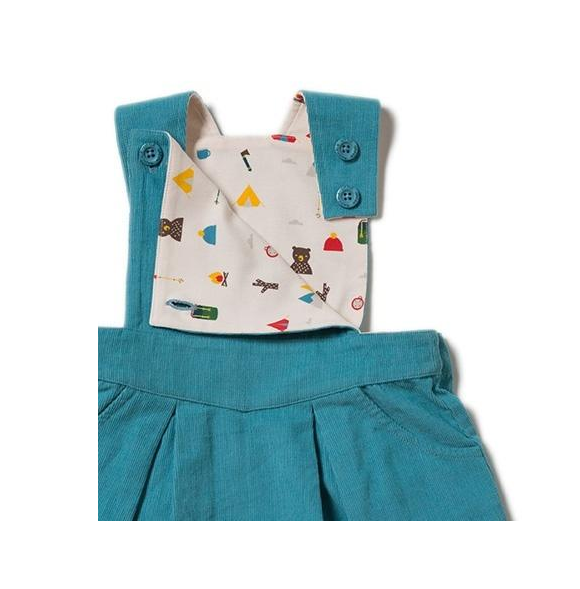 Little Green Radicals Little Green Radicals Mountain Blue Pinafore Dress