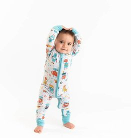 Little Sleepies Little Sleepies Robot Bamboo Zip Pajamas