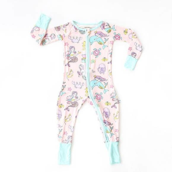 Little Sleepies Little Sleepies Mermaid Bamboo Zip Pajamas