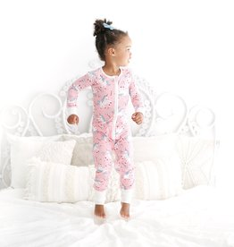 Little Sleepies Little Sleepies Unicorn Bamboo Zip Pajamas