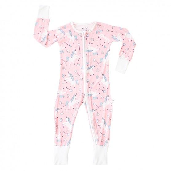 Little Sleepies Little Sleepies Unicorn Bamboo Zip Pajamas